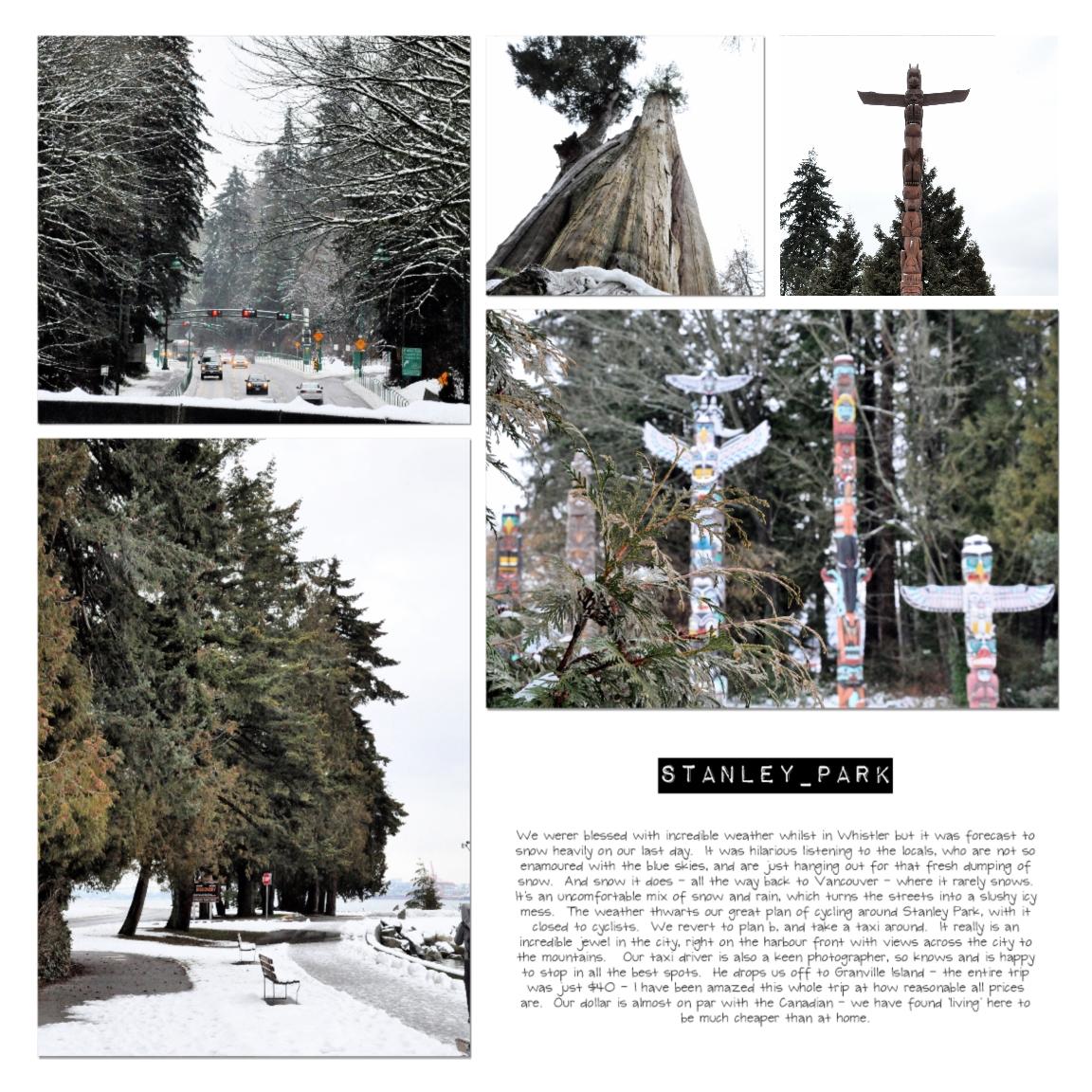 Save thos memories - digital scrapbooking page Whistler Canada