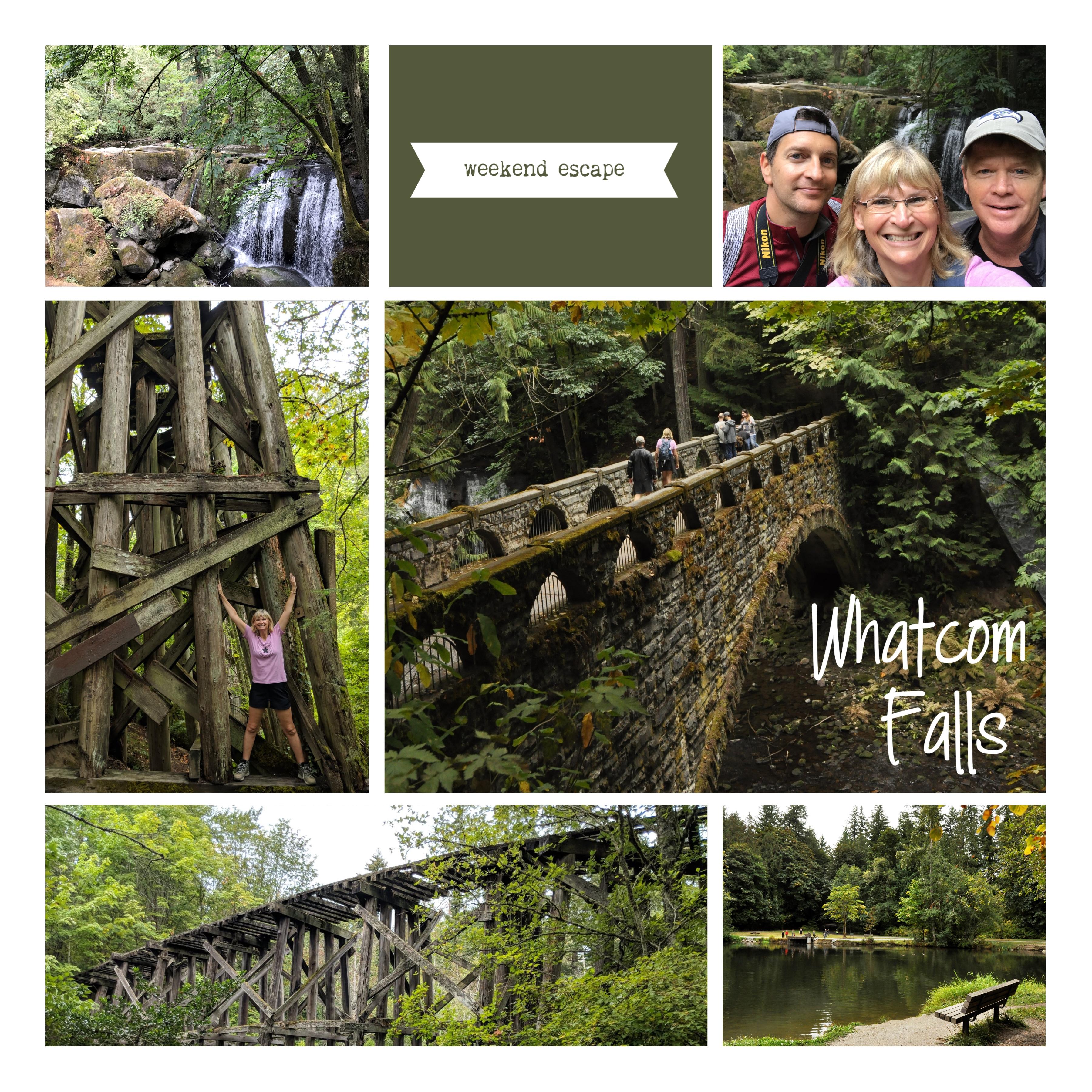 My digital scrapbooked story – Whatcom Falls Park