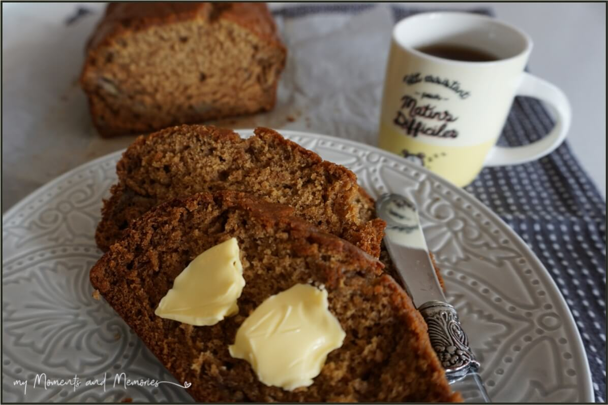 Banana Ginger Bread recipe | easy, moist, and delicious