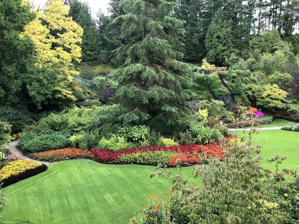 The world famous Butchart Gardens - another must do activity in Victoria BC