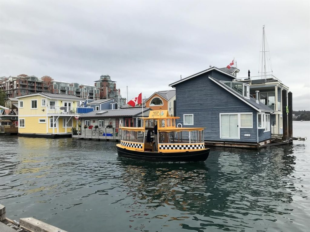 Fishermans Wharf, Victoria BC.  Home to colourful float homes.
