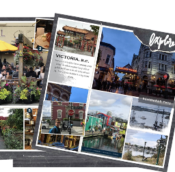 A weekend escape in Victoria BC | see how digital scrapbooking transforms the photos