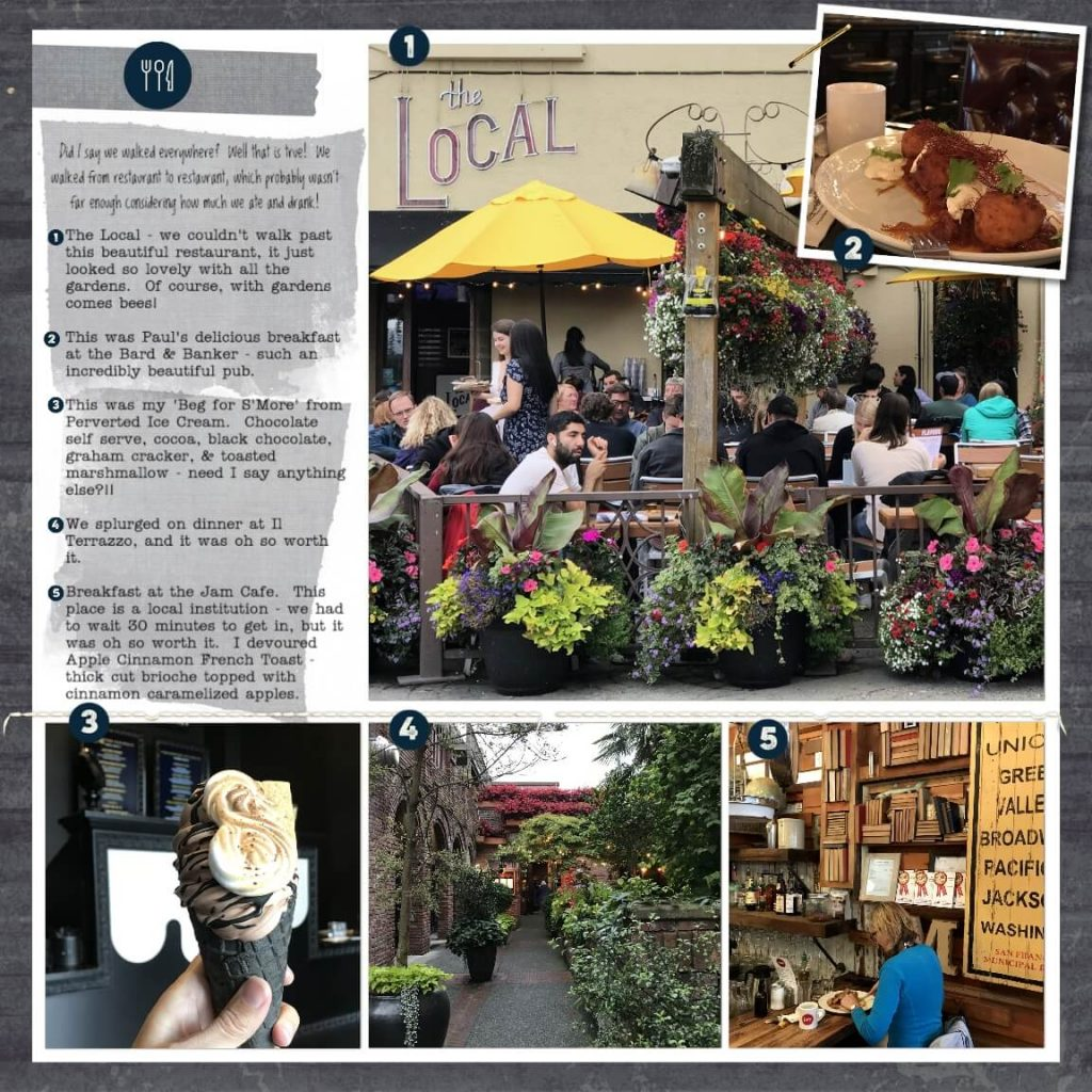 Page 2 of my digitally scrapbooked weekend in Victoria story
