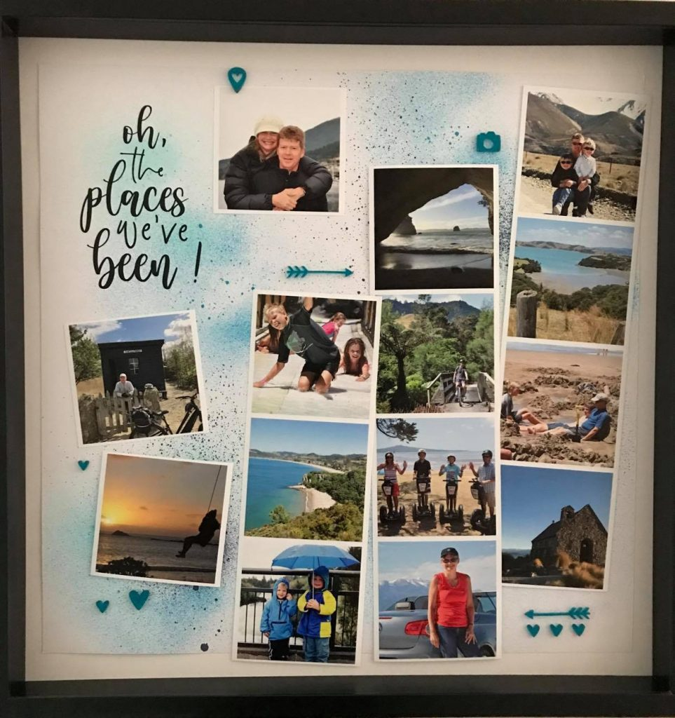 finished creative photo frame project