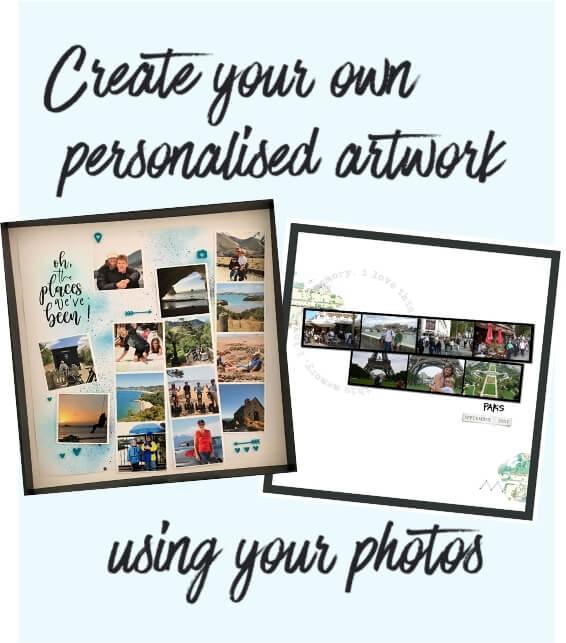 Quick & creative photo wall art