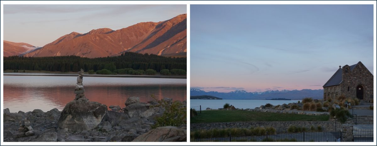 Lake Tekapo at sunset, South Island, NZ
