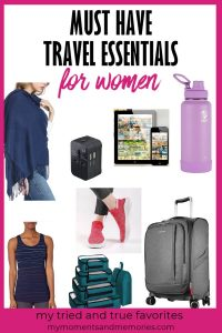 image showing some travel essentials for women