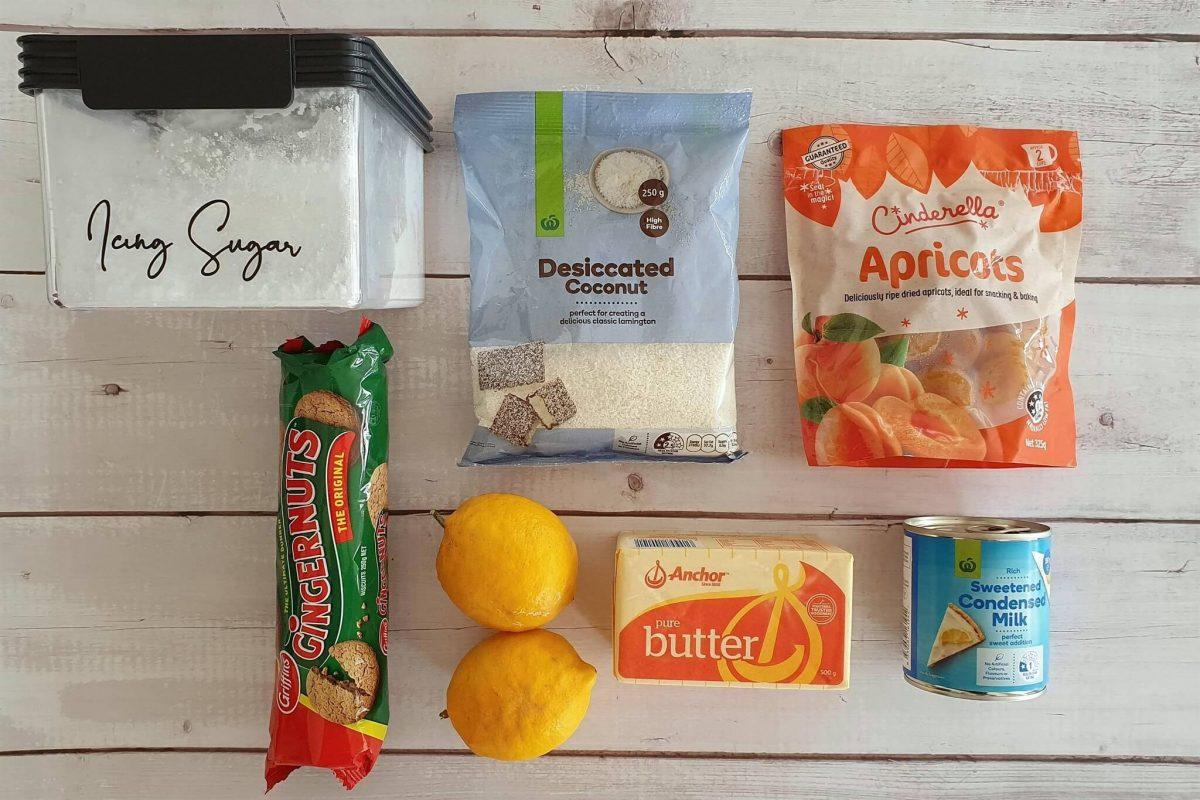 Lemon ginger slice ingredients